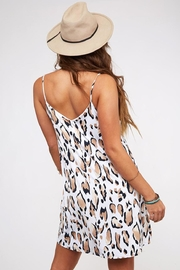 Peach Love California Leopard Print Dress - Back cropped