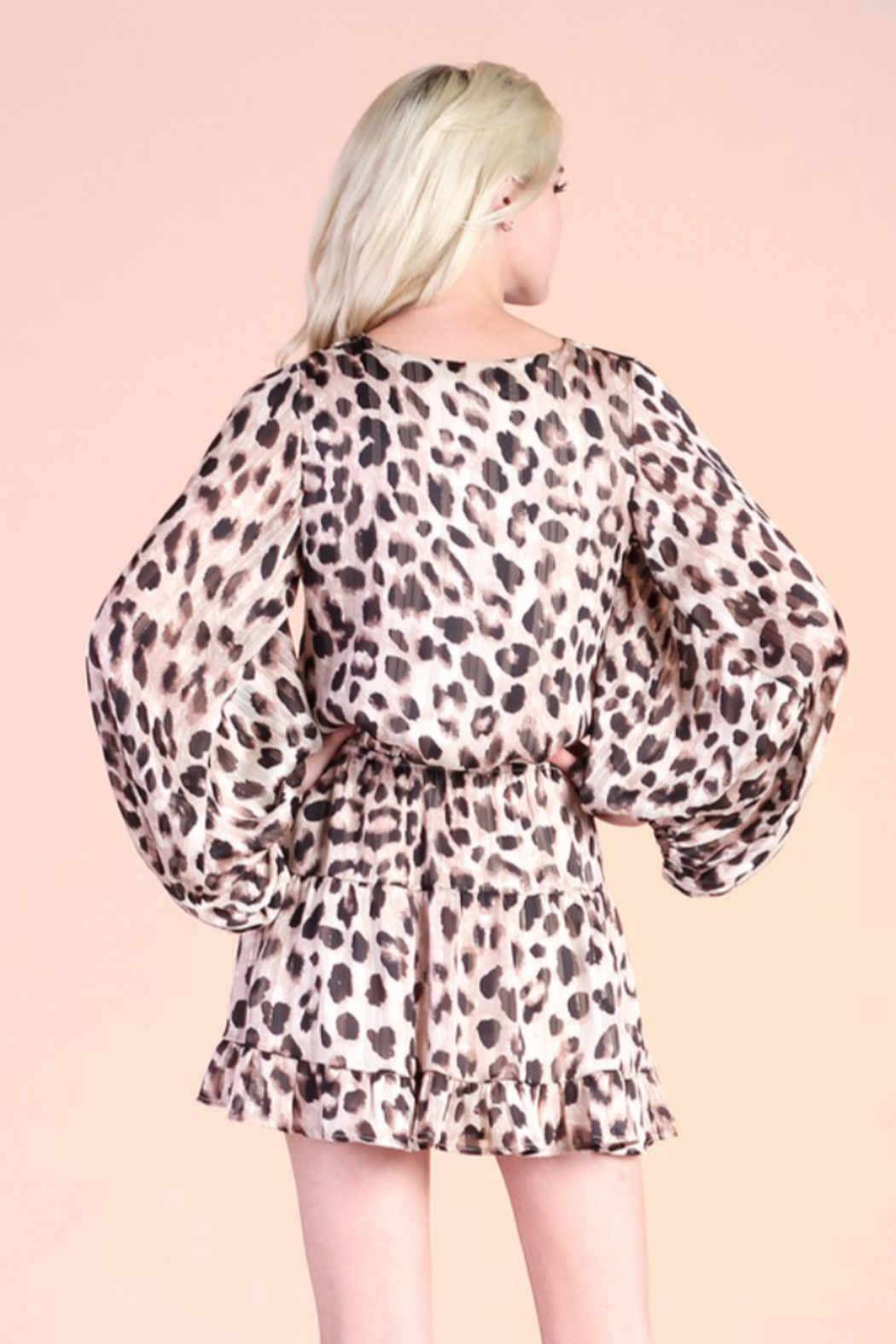 Tyche Leopard Print Dress - Side Cropped Image