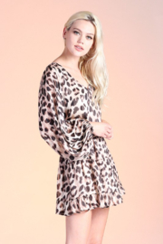 Tyche Leopard Print Dress - Front full body