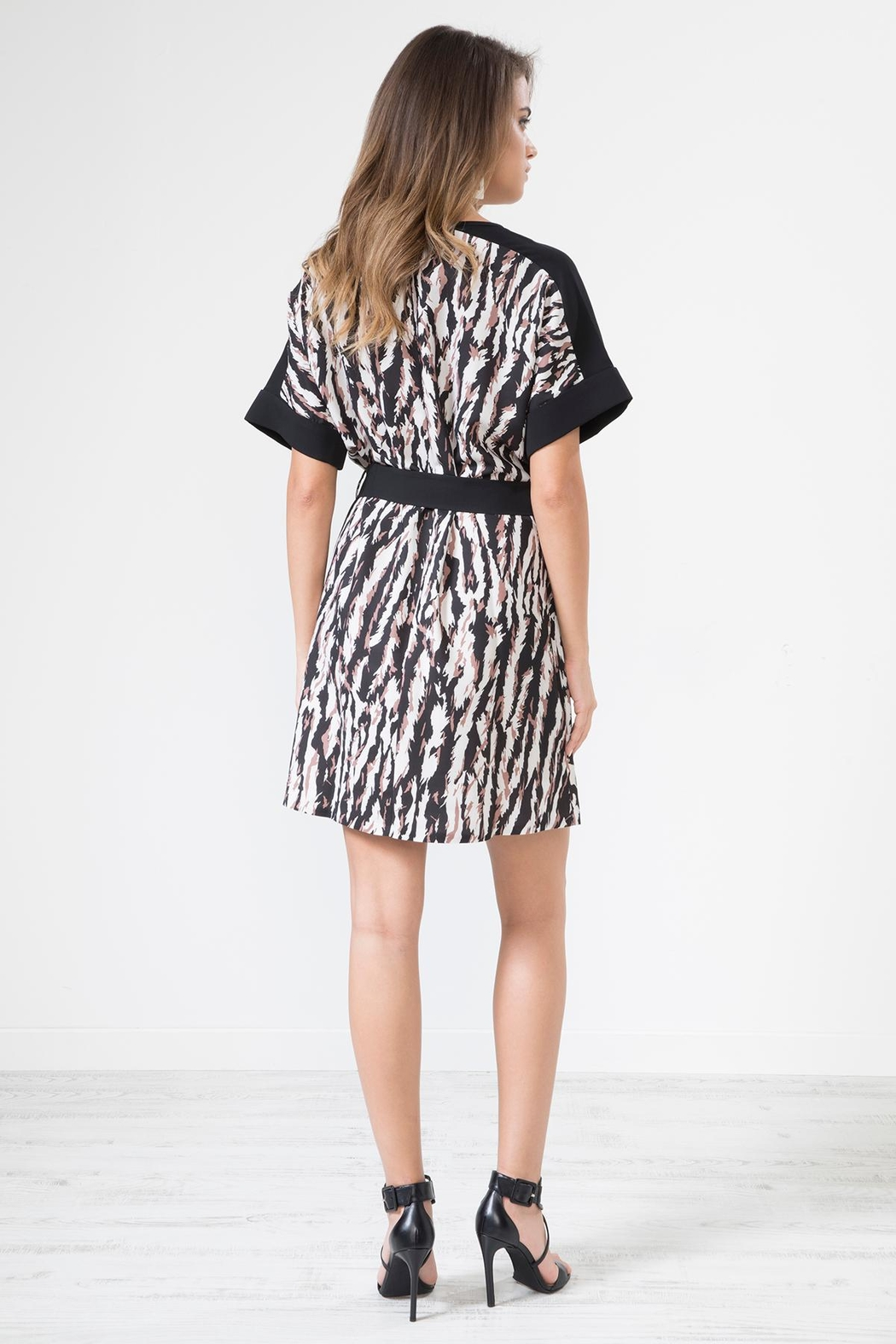 Urban Touch Leopard Print Dresswithbelt - Side Cropped Image