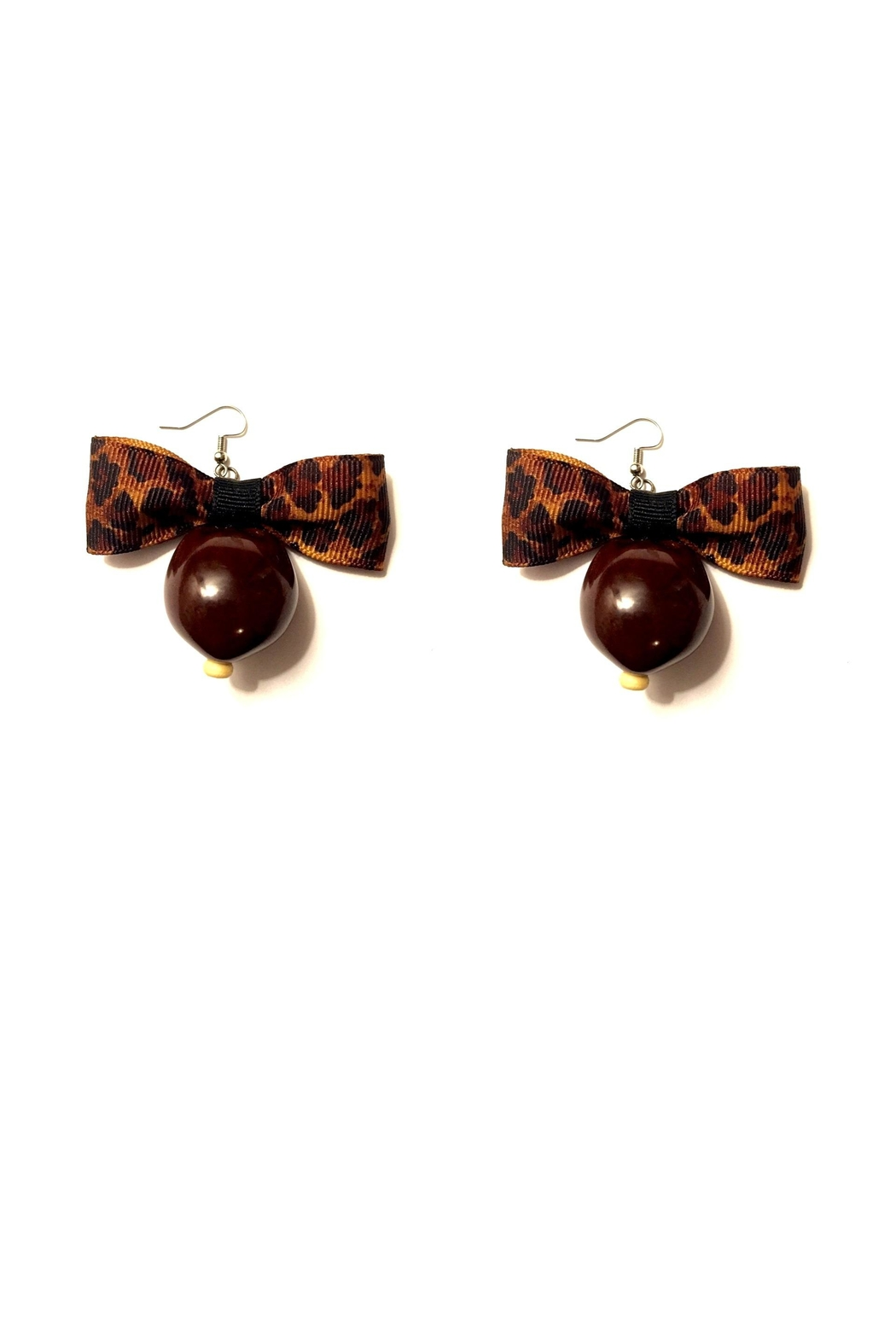 Love's Hangover Creations Leopard Print Earrings - Main Image