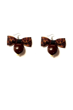 Love's Hangover Creations Leopard Print Earrings - Alternate List Image