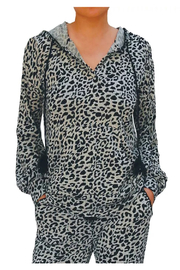 Billy T Leopard Print Hoodie - Front full body