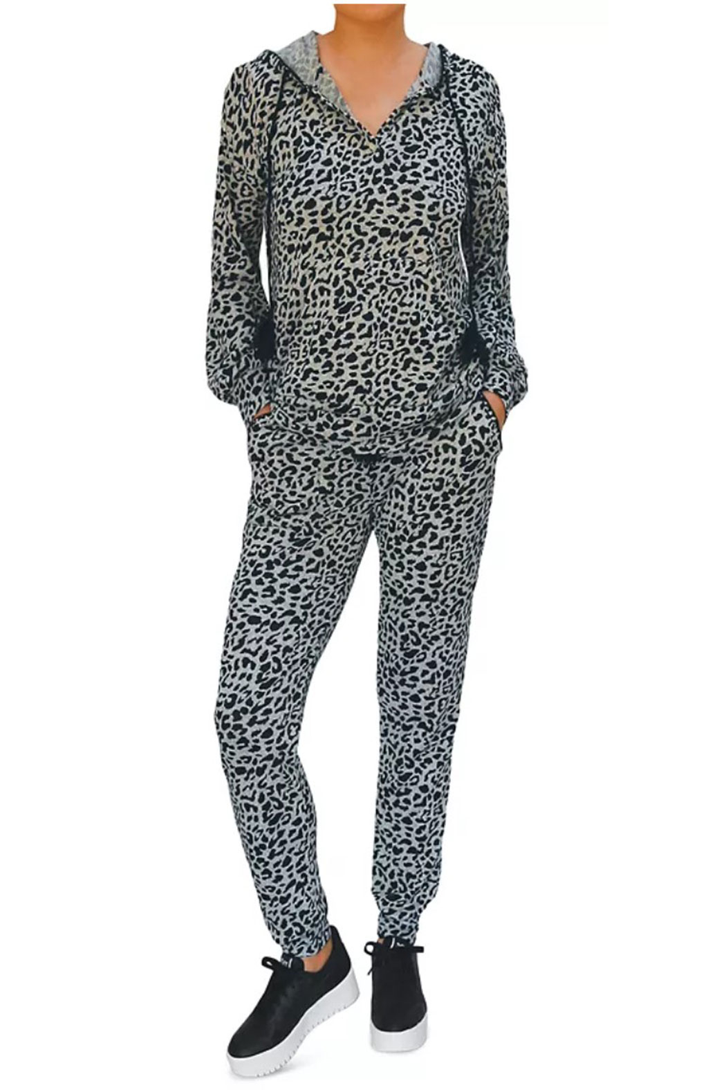 Billy T Leopard Print Hoodie - Side Cropped Image