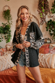 Hailey & Co Leopard Print Hoodie - Front full body