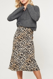 Promesa USA Leopard-Print Midi Skirt - Product Mini Image