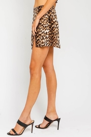 Olivaceous  Leopard Print Mini Skirt - Front full body