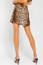Olivaceous  Leopard Print Mini Skirt - Side cropped