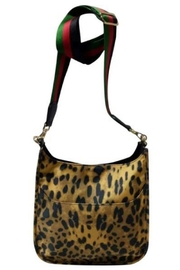 Ahdorned LEOPARD PRINT NYLON MESSENGER W/STRIPE ADJUSTABLE WEB STRAP - Product Mini Image