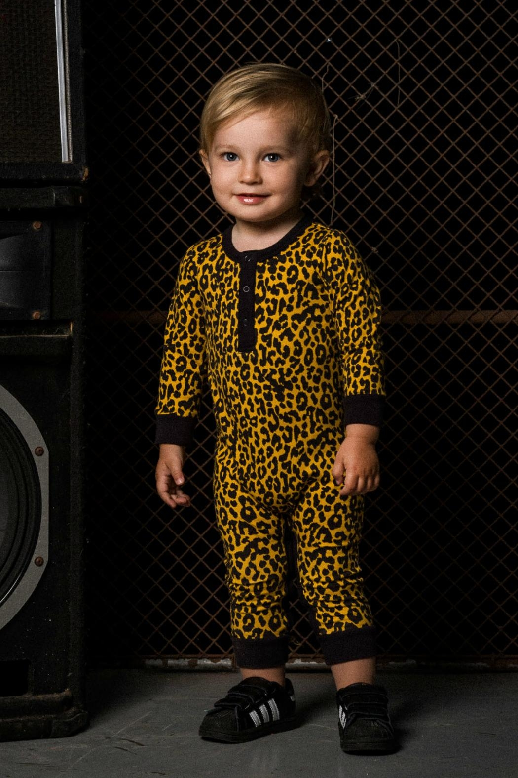 Rock Your Baby Leopard Print Playsuit - Front Full Image