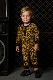 Rock Your Baby Leopard Print Playsuit - Front full body