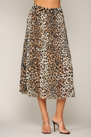 By Together  Leopard Print Pleated Midi Skirt - Front full body