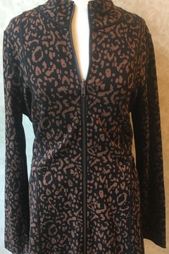 Lynn Ritchie Leopard print reversible jacket with zipper front. - Product List Image