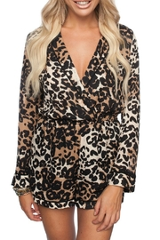 Buddy Love Leopard Print Romper - Product Mini Image
