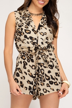 She + Sky Leopard Print Romper - Product List Image