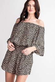FSL Apparel Leopard Print Romper - Product Mini Image