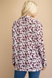 Glam Leopard Print Shirt - Side cropped