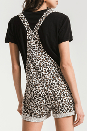 z supply Leopard Print Short Overalls - Side cropped