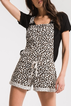 z supply Leopard Print Short Overalls - Product List Image