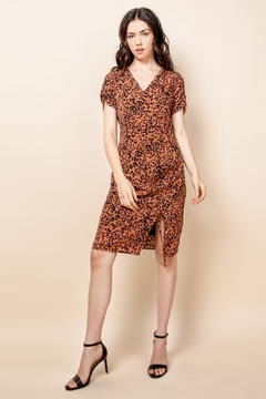 THML Clothing Leopard Print Short Sleeve Dress - Product List Image