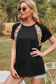 Lilly Leopard Print Short Sleeve Top - Product Mini Image