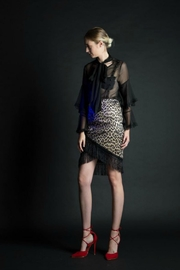 BEULAH STYLE Leopard-Print Skirt - Product Mini Image