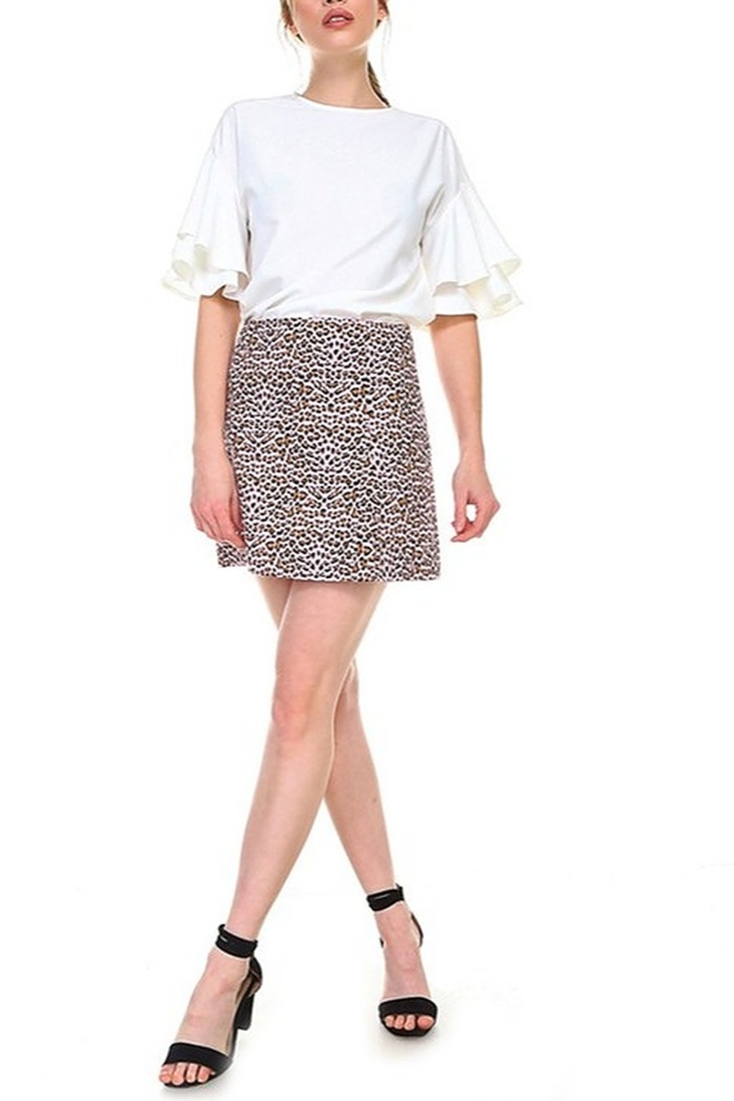 TCEC Leopard Print Skirt - Side Cropped Image