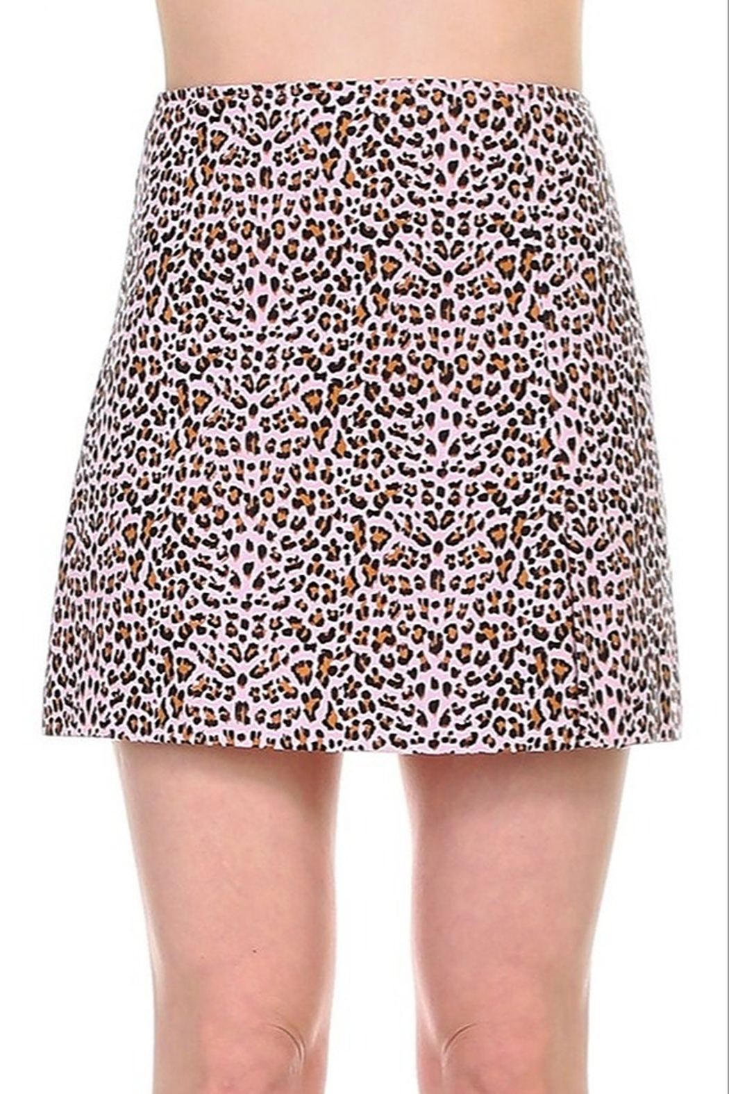 TCEC Leopard Print Skirt - Front Cropped Image