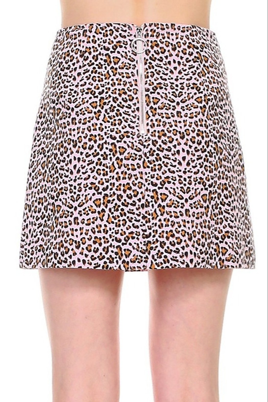 TCEC Leopard Print Skirt - Front Full Image