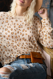 Pol Clothing Leopard Print Sweater - Product Mini Image