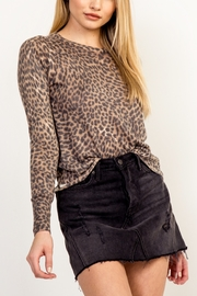 Olivaceous Leopard Print Sweater - Product Mini Image