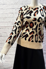 Sugar Lips Leopard Print Sweater - Product Mini Image