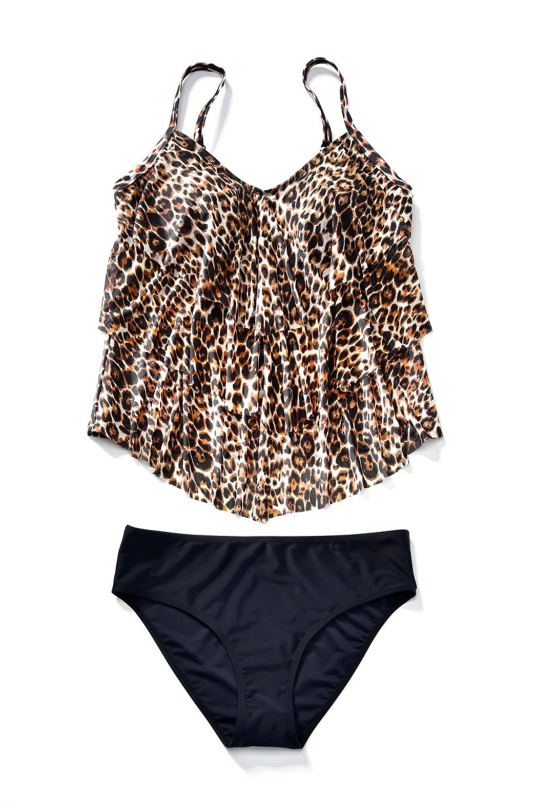 Giftcraft Inc.  Leopard Print Tankini - Side Cropped Image