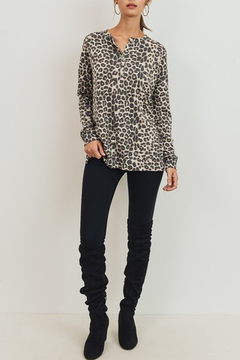 Cherish  Leopard Print Thermal Top - Product List Image