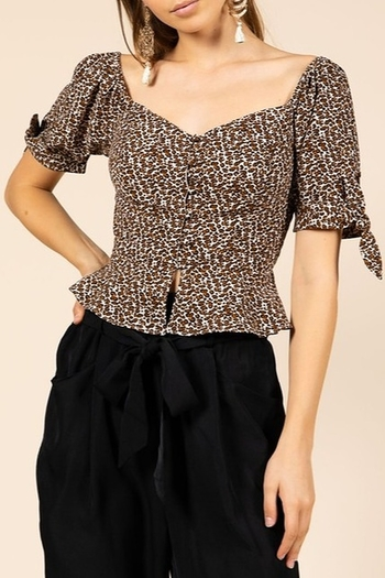 f28cc0dbd1 essue Leopard Print Top from Louisiana by Bella Bella - Bocage — Shoptiques