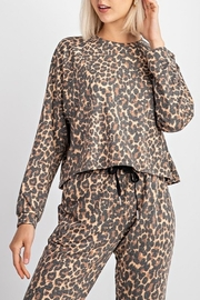 Le Lis Leopard Print Top - Product Mini Image