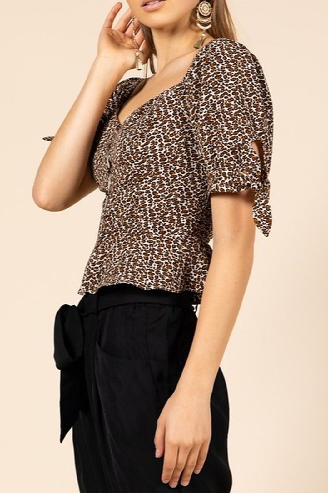 9bf4ea5690 essue Leopard Print Top from Louisiana by Bella Bella - Bocage ...