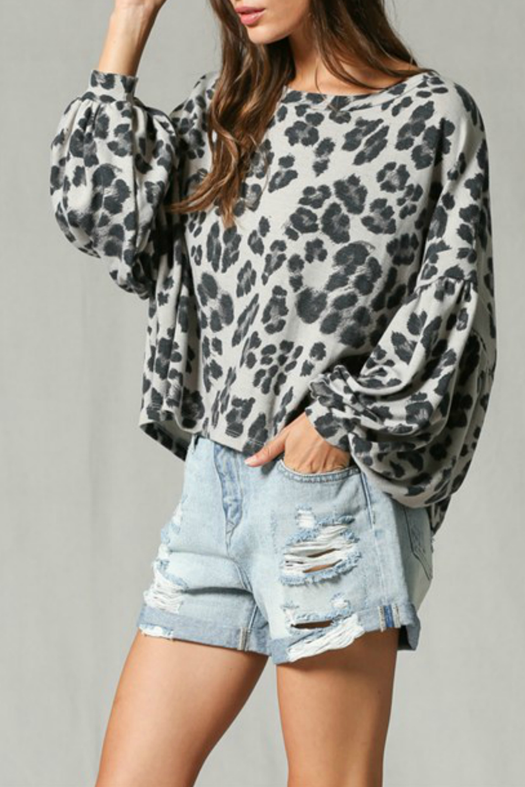 By Together Leopard Print Top - Front Full Image