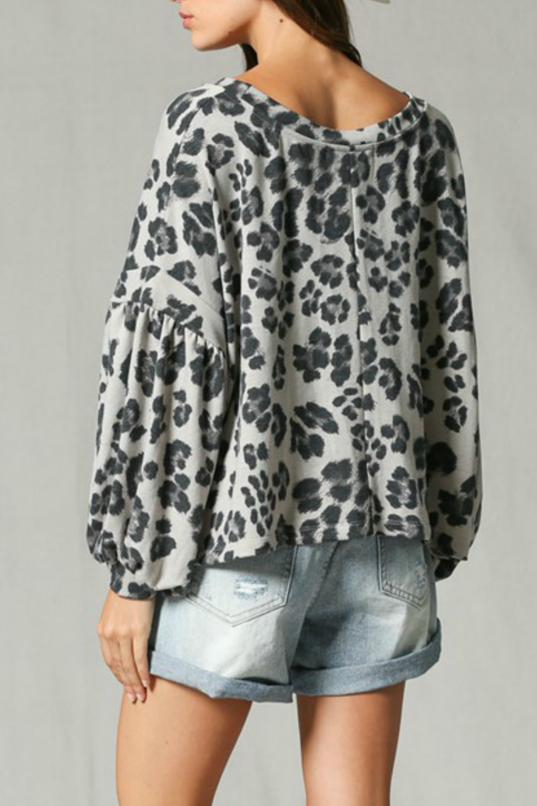 By Together Leopard Print Top - Side Cropped Image