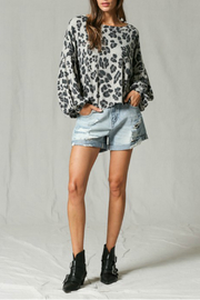 By Together Leopard Print Top - Front cropped
