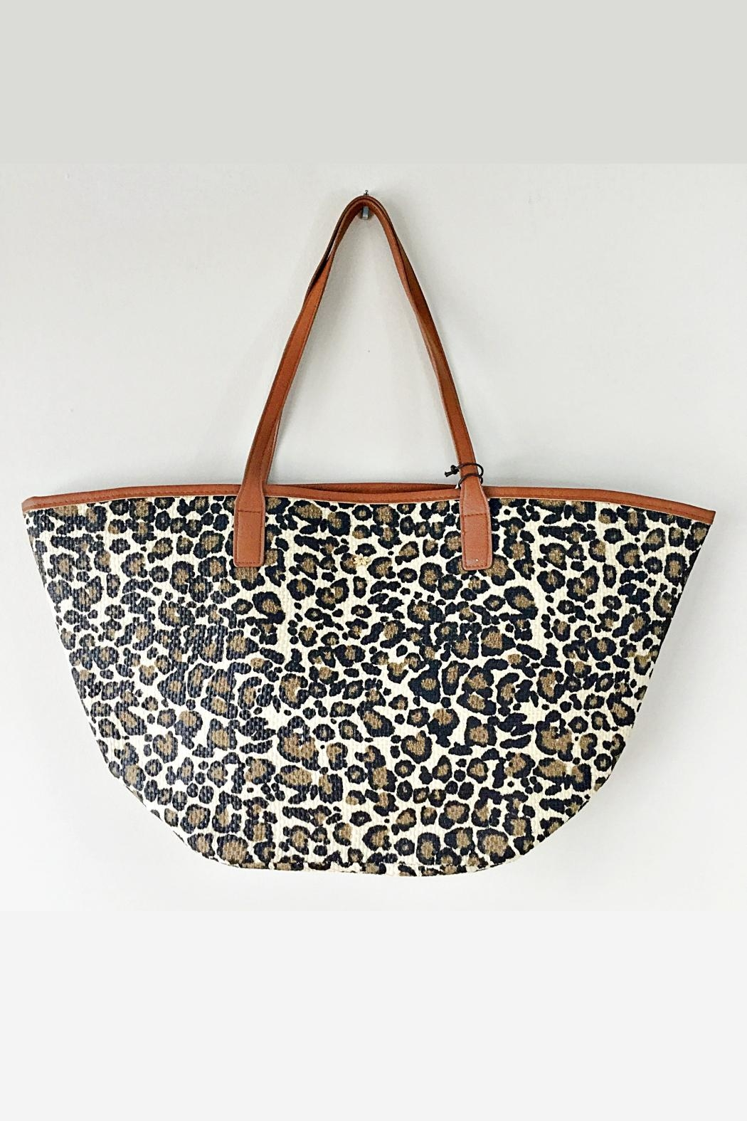 Dorfman Pacific Leopard Print Tote - Front Cropped Image