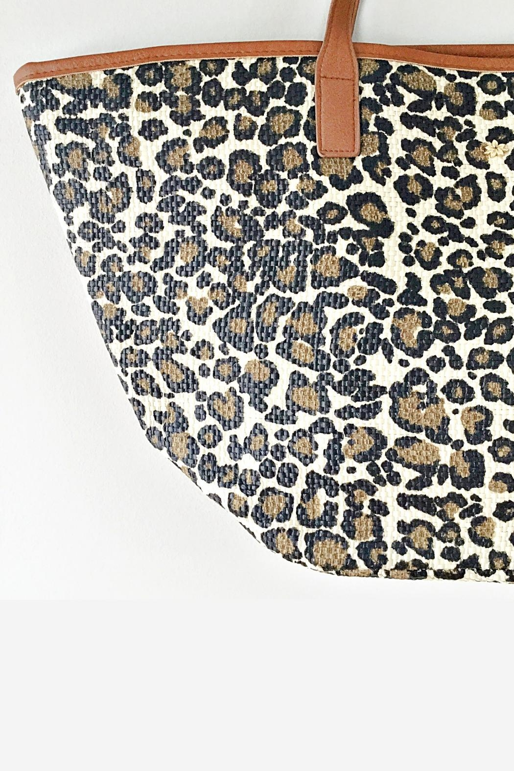 Dorfman Pacific Leopard Print Tote - Front Full Image