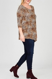 Janette Plus Leopard Print Tunic - Other