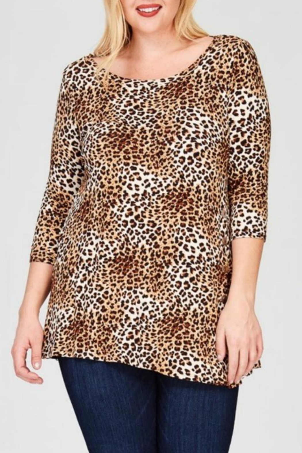 a01f95562b2 Janette Plus Leopard Print Tunic from Kansas by Seirer s Clothing ...