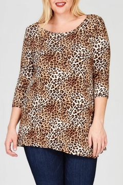 Janette Plus Leopard Print Tunic - Product List Image