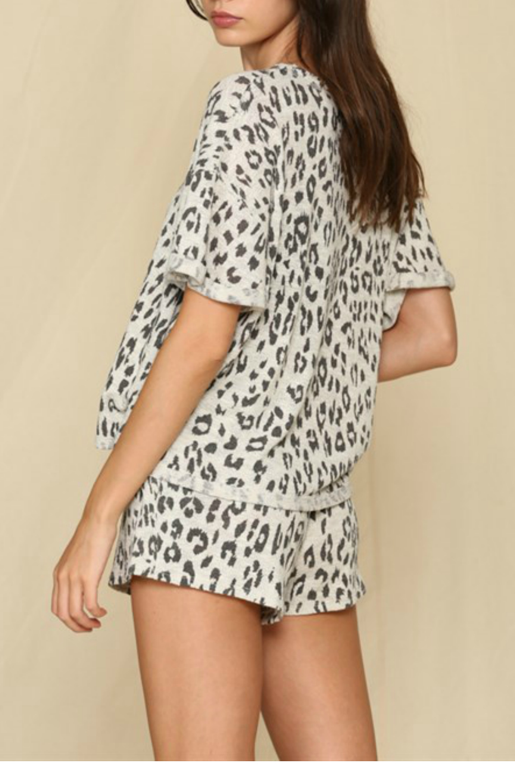 By Together  Leopard Printed Hacci Top - Front Full Image