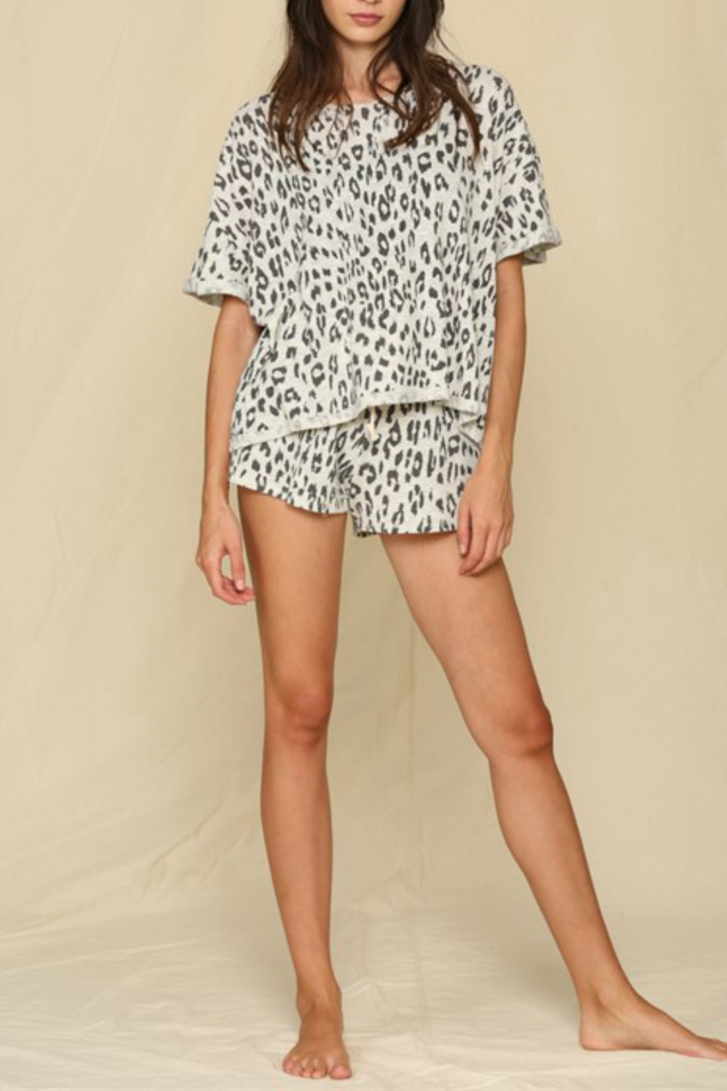 By Together  Leopard Printed Hacci Top - Main Image