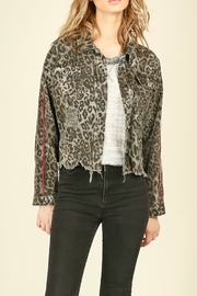 Vintage Havana  Leopard printed ripped jacket - Product Mini Image