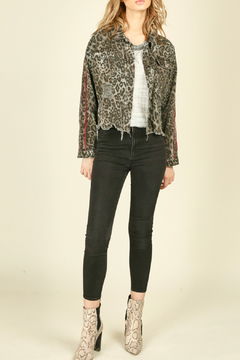 Shoptiques Product: Leopard printed ripped jacket