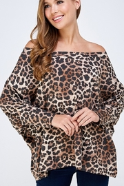 Yahada LEOPARD PRT OVERSIZED TOP - Product Mini Image
